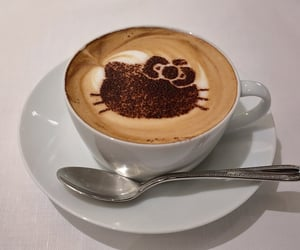 coffee, hello kitty, and hello kitty coffee image