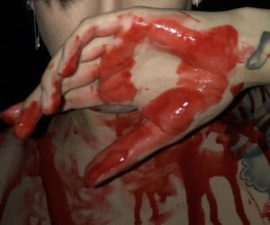 aesthetic, blood, and boy image