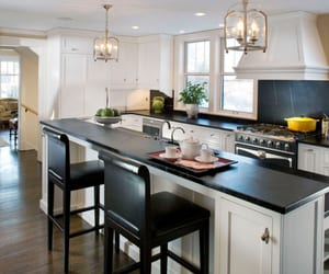 antique white cabinets and antique white kitchen image