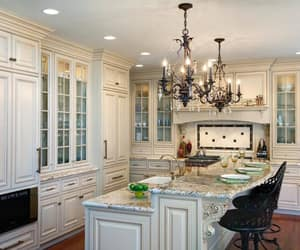 antique white kitchen and antique white cabinets image