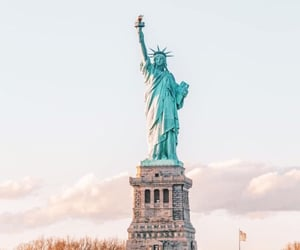 america, architecture, and lady image
