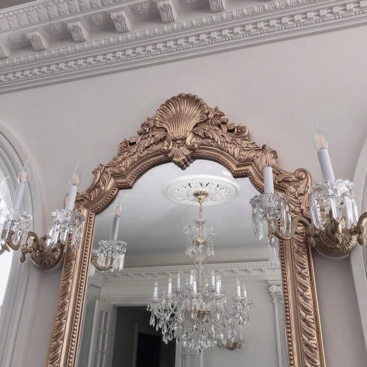 mirror, decor, and gold image