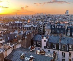 paris, photographie, and roofs image