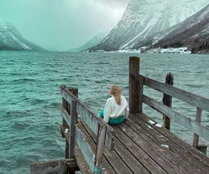 alone, mountain, and calming image