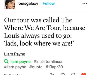 1d, louis tomlinson, and where we are tour image