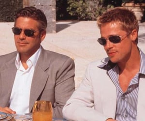 brad pitt, george clooney, and oceans eleven image