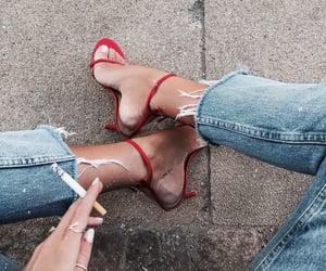 chic, cigarette, and fashion image