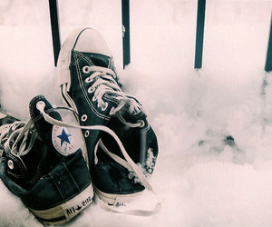 converse, snow, and shoes image