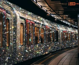glitter, train, and aesthetic image