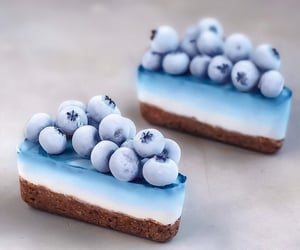 food, cake, and blue image