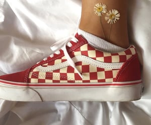 aesthetic, red, and vans image