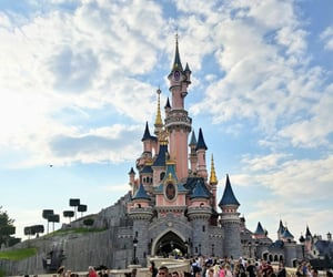 castle, disney, and fairytale image