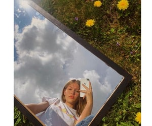 90s, flower, and mirror image
