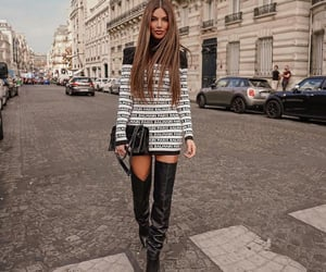 brunette, luxury, and street style image