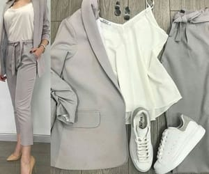 beige, nutral, and office wear image