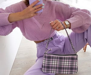 fashion, lilac, and outfit image