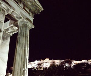 architecture, city lights, and Athens image