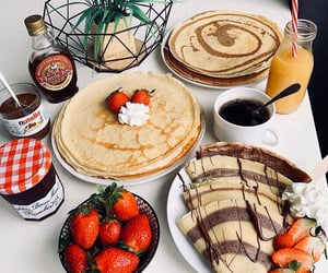 crepes, food, and nutella image