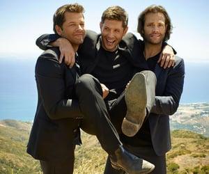 jared padalecki, Jensen Ackles, and misha collins image