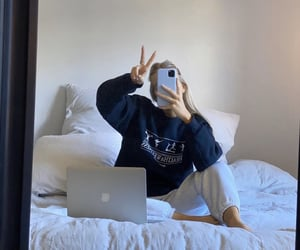 aesthetic, bedroom, and macbook image