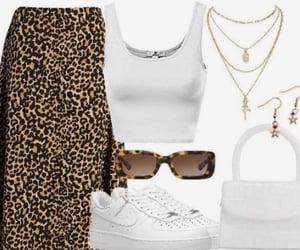 air force 1, fashion, and cheetah print image