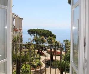 balcony, sea, and travel image