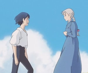 wallpaper, studio ghibli, and howl's moving castle image