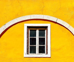 facade, window, and yellow image