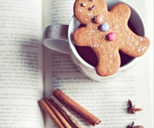 book, candy, and coffee image
