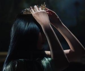 black, crown, and girl image