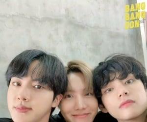 jin, jhope, and namjoon image
