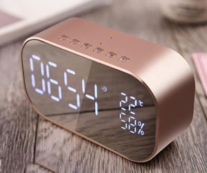 rose gold and clock image