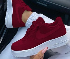 sneakers, nike, and red image