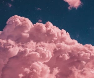 clouds, pink, and wallpaper image