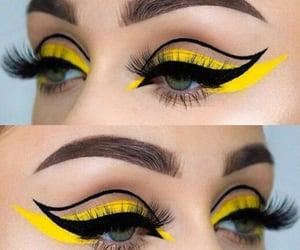 fashion, green eyes, and makeup image