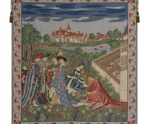 wall art, belgian tapestry, and tapestry image