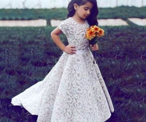 robe de soirée, cheap flower girl dress, and lace flower girl dress image