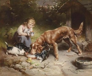 art, cats, and pets image