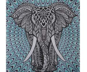 etsy, tapestries, and elephant wall decor image