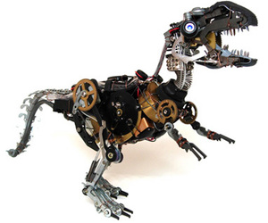 dinosaur, robot, and tech image