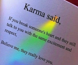 quotes, love, and karma image