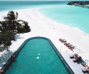 beach, pool, and blue image