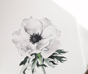 anemone, journaling, and watercolor painting image