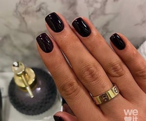 nails, black, and cartier image