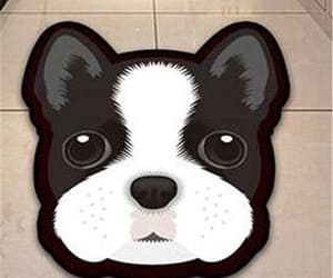 floor rug, dog gifts, and boston terrier gift image