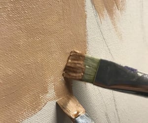 aesthetic, brown, and paint image