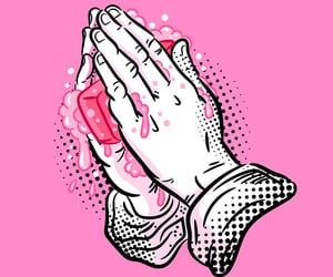 corona, hands, and holy image