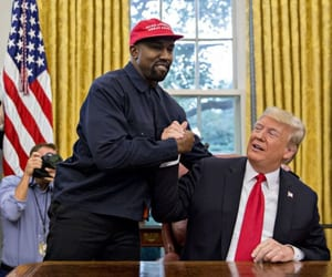 kanyewest, donaldtrump, and 2020election image
