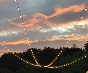 clouds, garland, and light image