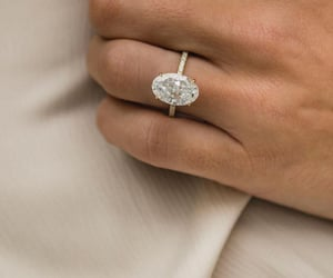 beige, diamond, and ring image